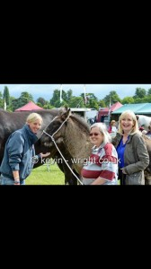 Carold Kirkwood, VC, Denise Badger with foal